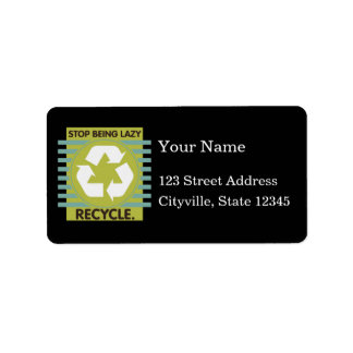 Stop Being Lazy, Recycle! Custom Address Labels