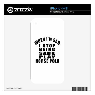 STOP BEING SAD PLAY HORSE POLO SKIN FOR iPhone 4
