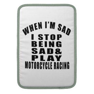 STOP BEING SAD PLAY MOTORCYCLE RACING      MOTOCRO SLEEVE FOR MacBook AIR