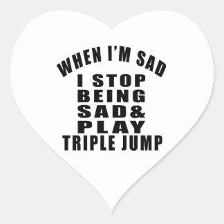 STOP BEING SAD PLAY TRIPLE JUMP HEART STICKER