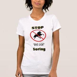 """STOP """"Big Lick"""" Soring with Ban Symbol Tee Shirts"""