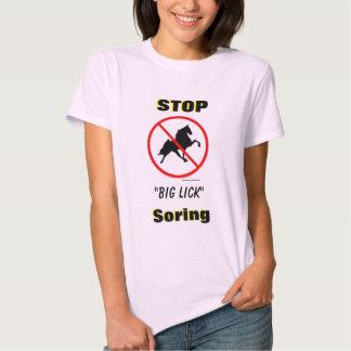 "STOP ""Big Lick"" Soring with Ban Symbol Tees"