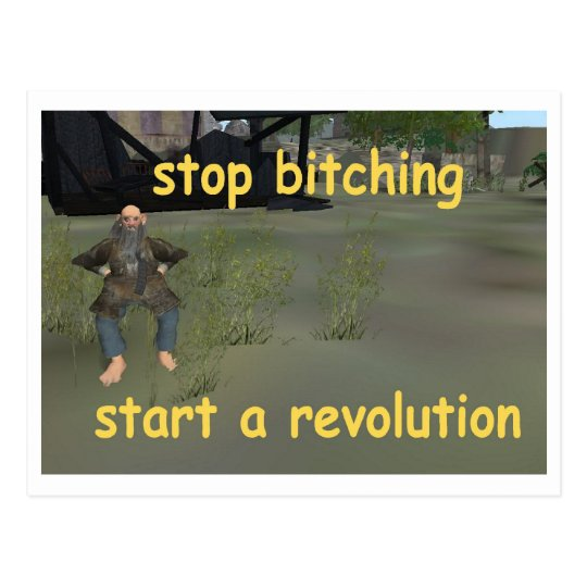 stop bitching postcard
