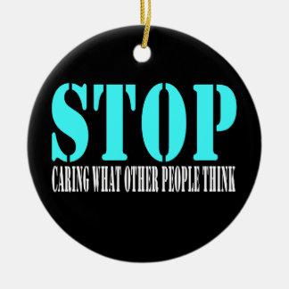 Stop Black Ornament or Door Hanger