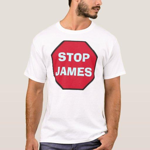 stop_blank, STOPJAMES Playera