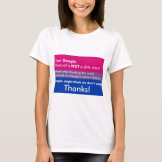 Stop Blocking The Word Bisexual T-Shirt