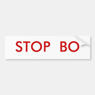 STOP  BO BUMPER STICKER