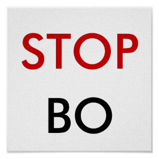 STOP, BO POSTER