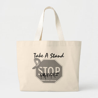 Stop Brain CancerTake A Stand Tote Bags