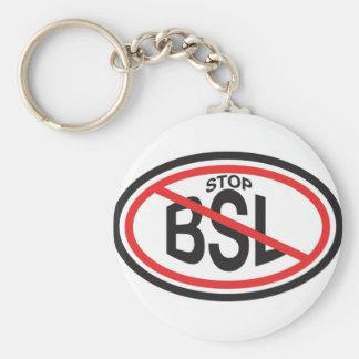 STOP Breed Specific Legislation Basic Round Button Keychain