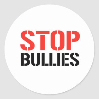 STOP BULLIES CLASSIC ROUND STICKER
