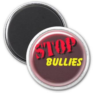 stop bullies logo 2 inch round magnet