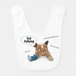 Stop Bullying and Celebrate Difference, Love Baby Bib