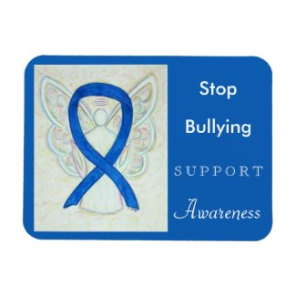 Stop Bullying Awareness Ribbon Angel Magnet
