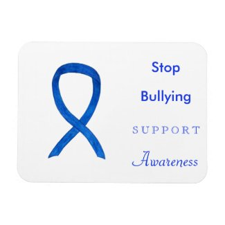 Stop Bullying Awareness Ribbon Custom Magnets