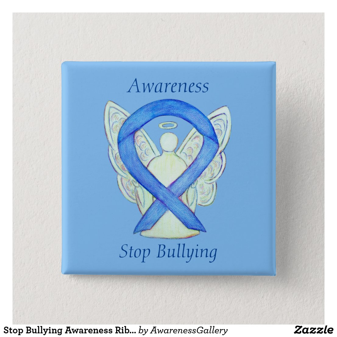 Stop Bullying Awareness Ribbon Custom Pin Buttons