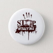 Stop bullying badge pinback button
