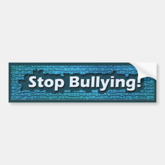 Stop Bullying Blue Brick Bumper Sticker
