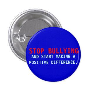 Stop Bullying -Bullies-Don't Bully-Blue Pin Button