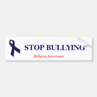 STOP BULLYING Bullying awareness bumper Sticker