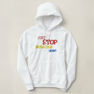 Stop Bullying Custom Embroidery Embroidered Hoodie