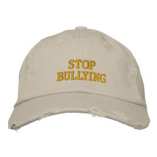 Stop Bullying Embroidered Baseball Cap