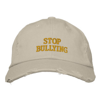 Stop Bullying Embroidered Baseball Caps