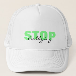 Stop Bullying Green Simple Hat