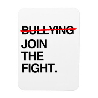 STOP BULLYING JOIN THE FIGHT RECTANGULAR MAGNETS
