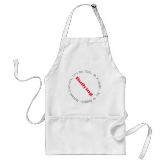 Stop Bullying-Logo by Shirley Taylor Adult Apron