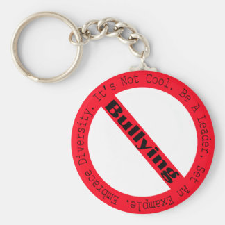 Stop Bullying-Logo by Shirley Taylor Basic Round Button Keychain
