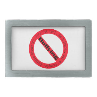 Stop Bullying-Logo by Shirley Taylor Belt Buckle