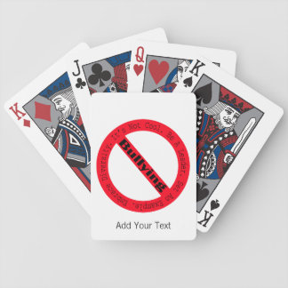 Stop Bullying-Logo by Shirley Taylor Bicycle Playing Cards