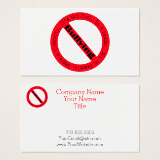 Stop Bullying-Logo by Shirley Taylor Business Card