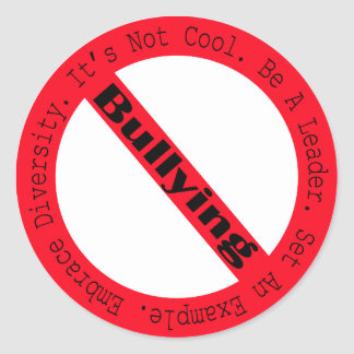Stop Bullying-Logo by Shirley Taylor Classic Round Sticker
