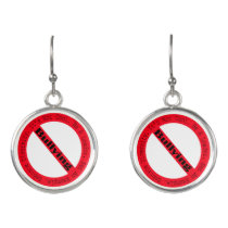 Stop Bullying-Logo by Shirley Taylor Earrings