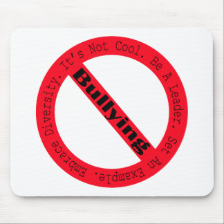 Stop Bullying-Logo by Shirley Taylor Mouse Pad