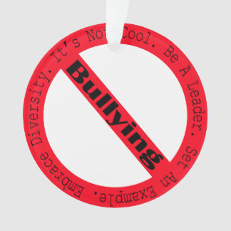 Stop Bullying-Logo by Shirley Taylor Ornament