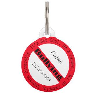 Stop Bullying-Logo by Shirley Taylor Pet ID Tag