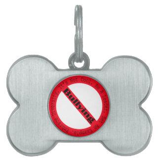 Stop Bullying-Logo by Shirley Taylor Pet Tag