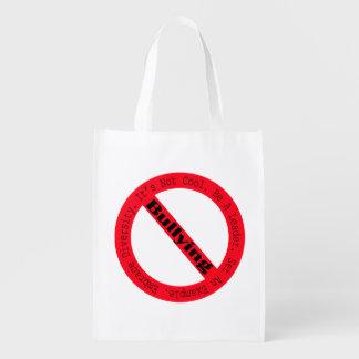 Stop Bullying-Logo by Shirley Taylor Reusable Grocery Bag