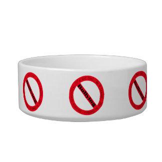 Stop Bullying-Logo Cat Water Bowls