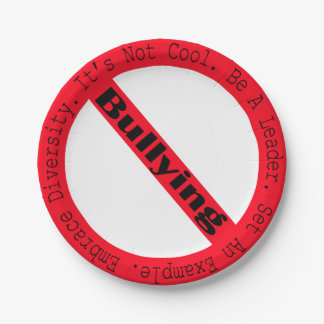 Stop Bullying-Logo 7 Inch Paper Plate