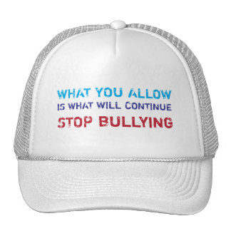 Stop Bullying No Bullying Against Bullying Mesh Hat