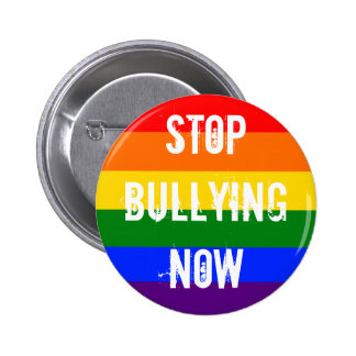 Stop bullying now - rainbow pins