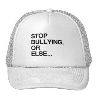 STOP BULLYING OR ELSE MESH HAT
