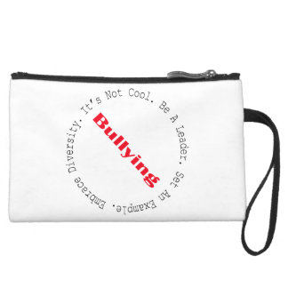 Stop Bullying-Outline Wristlet Clutches