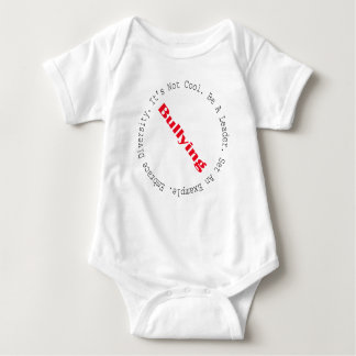 Stop Bullying-Outline by Shirley Taylor Baby Bodysuit