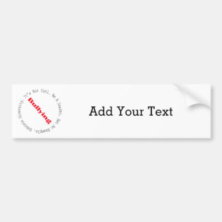 Stop Bullying-Outline by Shirley Taylor Bumper Sticker