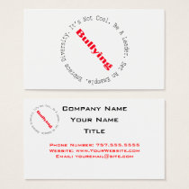 Stop Bullying-Outline by Shirley Taylor Business Card